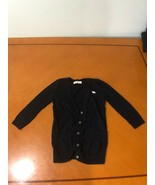 Girls Kids Abercrombie & Fitch Black Cardigan w Buttons Sweater Size Lar... - $2.96