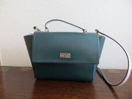 """Kate Spade RARE in Green 100% Leather """" Arbour Hill"""" Satchel Cross body ... - $125.00"""