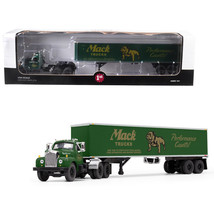 Mack B-61 Day Cab with 40 Vintage Trailer Mack Trucks: Performance Count... - $103.84