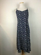Old Navy Women's Navy Blue Floral Spaghetti Strap Summer Dress Size Large - $15.83
