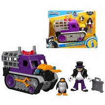 Imaginext DC Superfriends Streets of Gotham City Penguin & Snow Tank Fig... - $29.99