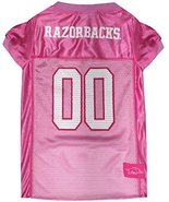 NCAA Arkansas Razorbacks Dog Pink Jersey, Medium. - Pet Pink Outfit. - $16.82