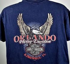 Harley Davidson T-Shirt Large Orlando Kissimmee Florida Motorcycle H-D B... - $13.81