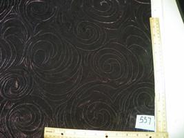 Dark Purple Swirl Print Velvet Upholstery Fabric 1 Yard  R557 - $29.95