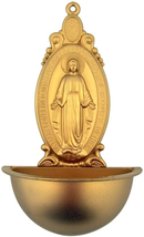 OUR LADY OF GRACE MIRACULOUS MEDAL HOLY WATER WALL FONT - $18.80