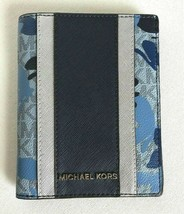 New Michael Kors Jet Set Travel Passport case wallet Sapphire Butterflies - £37.30 GBP