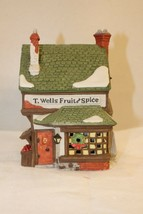 Dept 56 Dickens' Village Series - T. Wells Fruit And Spice Shop - #59242... - $13.95