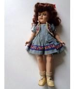 Vintage 1950's Ideal P-90 Toni Doll w Sleep Eyes Plastic Head Brunette H... - $86.44