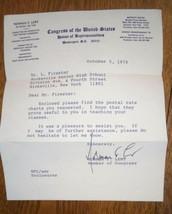 New York Congressman Norman F Lent Autograph - Signed Congressional Lett... - $34.65