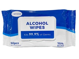 Caresour 75% Alcohol-Based Sanitizing Wipes (50-Count)