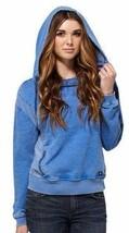Dc Schuhe Co.Junior Damen Blau Pfeil Fleece Top Kapuzenpullover ADJFT00018 Nwt