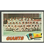 San Francisco Giants Team Card 1977 Topps Baseball Card # 211  - $0.85