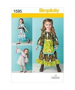 Simplicity Tenderfeet Stitches Pattern 1595 Toddler Dress in Two Lengths... - $13.48
