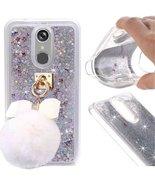 LG ARISTO LV3 MS210 Case,Fluffy Ball Dynamic Liquid Glitter Bling Shiny ... - $11.87