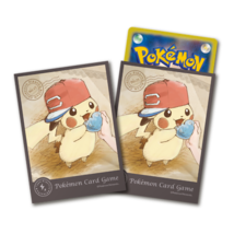 Pokemon Center Card Sleeves Japanese Pikachu Deck Shield Ash's Hat Alola... - $15.99