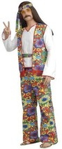 Hippie Man Costume 60'S Peace Love Adult Men Halloween Party Plus Size F... - $48.99