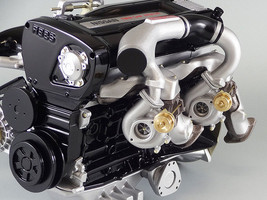NISSAN SKYLINE GTR R33 RB26DETT 2.6L TURBO ENGINE 1/6 SCALE MODEL MADE I... - $504.96
