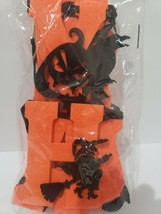 New HAPPY HALLOWEEN Felt Witch Pumpkins Orange Black Garland Decor 2pc - $14.99