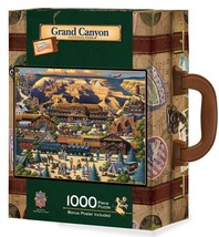 Grand Canyon 1000 pc Jigsaw Puzzle in Travel Suitcase by Masterpieces Pu... - $39.99