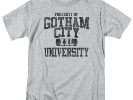 BATMAN PROPERTY OF GCU  T-SHIRT Gotham superhero 100% cotton graphic tee BM1952 image 2