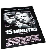 2001 15 MINUTES Movie 8x10 Robert De Niro AD SLICK Advertising Promo Sheet - $9.99