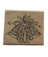 Rubber Wood Stamp Stamping Crafting Christmas Large Wedding Bells Stampi... - $9.89