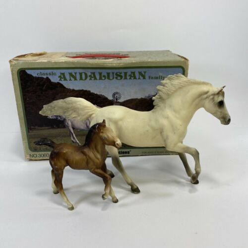 Primary image for Breyer 3060 Andalusian Chestnut Foal & White Stallion Set of 2 with Original Box