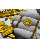 COLOMBIA NGC 58 2 ESCUDOS 1660 FULL 4 DIGIT DATE PIRATE GOLD COINS TREAS... - $3,295.00