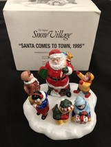 Dept 56 Snow Village Santa Comes To Town 1995 #5477-1 - £11.20 GBP