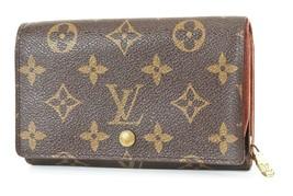 Authentic LOUIS VUITTON Monogram Long Wallet Zippered Coin Purse #2798 - $134.10
