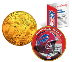 BUFFALO BILLS NFL 24K Gold Plated IKE Dollar US Coin *OFFICIALLY LICENSED* - $9.46