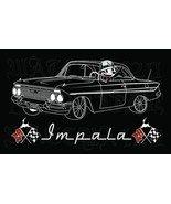 1961 Chevy Impala With Felix The Cat Lowrider Men's T-Shirts - $19.80