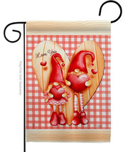 Gnome Love - Impressions Decorative Garden Flag G151068-BO - $19.97