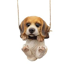 CITONG Cute Puppy Dog Hanging Garden Statue Figurines - $21.65