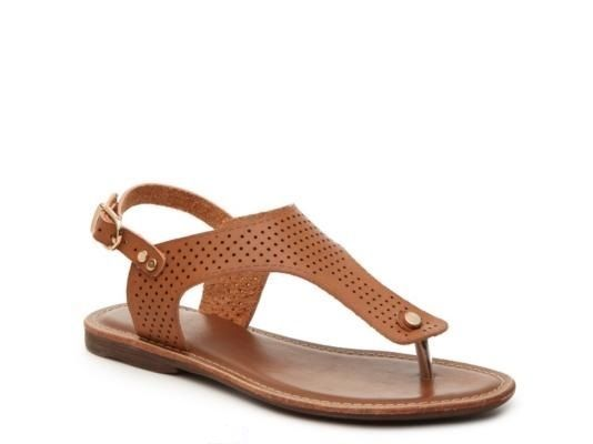G.C. Shoes Women Fun Times Tan Slingback Strap Thong Flat Sandal Medium (B,M) US