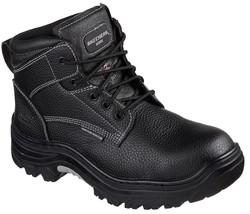 Mens Skechers Work/Safety Burgin Tarlac Black Steel Toe Boots [77143/BLK] - £39.51 GBP