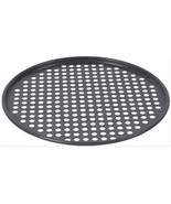 "Pepperoni pizza Perforated Aluminum Non Stick Crisper 13"" Pizza Pan Blac... - $40.95"