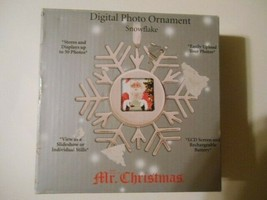 Mr Christmas Digital Photo Snowflake Ornament New Condition - $9.59