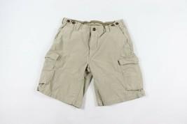 Ralph Lauren Mens Size 33 Classic Fit Drill Fatigue Cargo Shorts Khaki Cotton - $44.50
