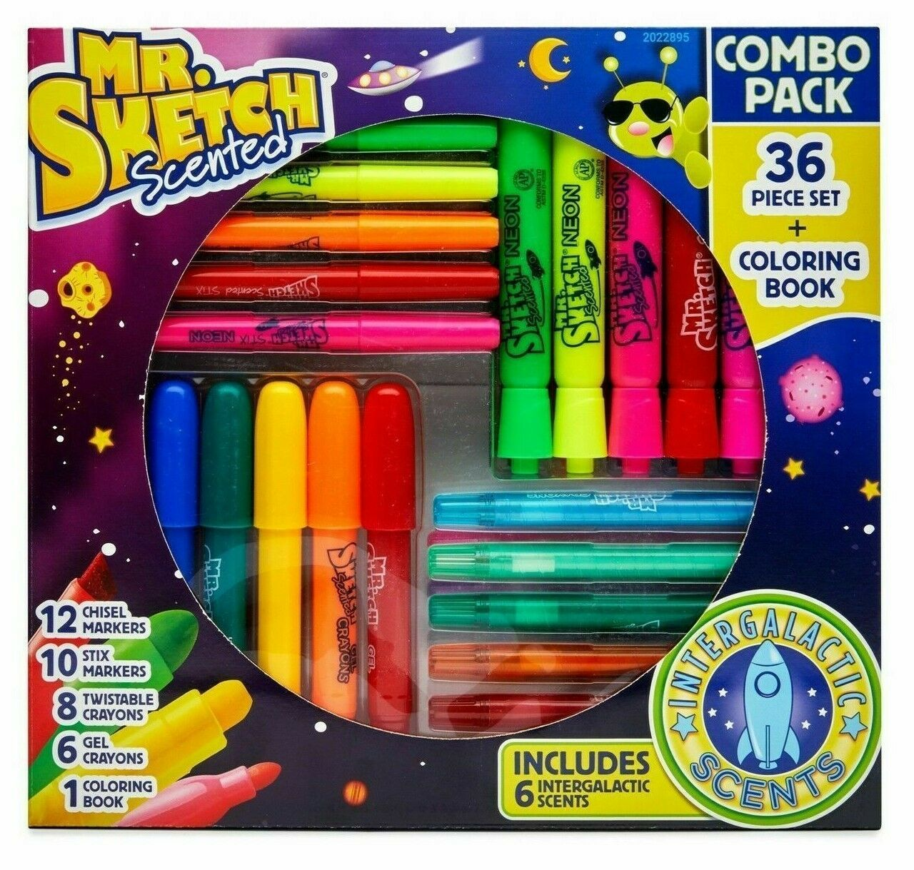 Mr Sketch Scented 37 Piece Set Combo Markers Coloring Book Crayons NIB