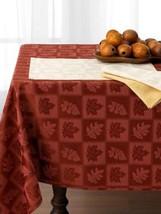 "Ralph Lauren ""Stroddard"" Rust Holiday Tablecloth Cotton Blend 60"" X 84"" New W Ta - $49.80"