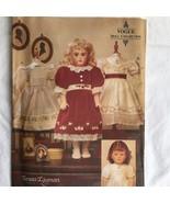 Vogue Doll Craft Pattern 7163 Heirloom Doll Clothes Dress Teresa Layman ... - $14.82