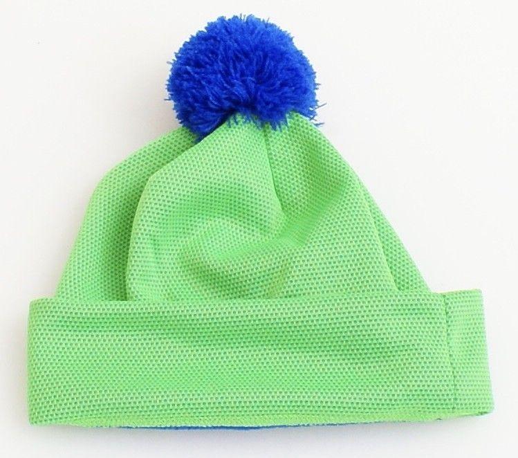 Nike Green Cuff Beanie Skull Cap with Pom Pom Youth Boy's 8-20 NWT