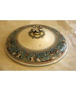 """Wedgwood 1931 Florentine Turquoise Lid For 8"""" Covered Bowl #2417 Old Bac... - $81.89"""