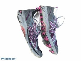 Asics Gel Kahana Womens Hiking Trail Running Shoes Gray Purple Size 9 T0E5N - $39.48