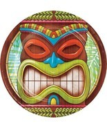 Tiki Time 8 Ct Dessert Cake Paper Plates Summer Pool Party Luau - $4.83 CAD