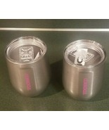 2 total - Corkcicle Stemless Wine Glass 12 oz Stainless Steel - (1 has s... - $29.39
