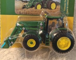 John Deere TBE45378 ERTL 6210R Tractor With Loader Die Cast Metal Replica image 2