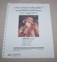 Girl in the Golden Hat Renoir Artwork Cross Stitch Collectibles Pattern ... - $11.39