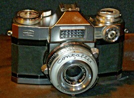 Zeiss Ikon Contaflex Super Camera with hard leather Case AA-192013 Vintage image 2